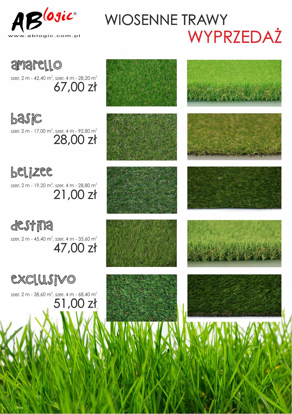 Wiosenne trawy - wyprzedaż kolekcji