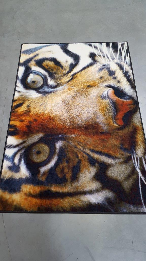 Wycieraczki tekstylne Wycieraczka HD 100 cm x 150 cm Tygrys
