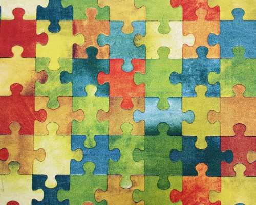 Wykładzina dziecięca PUZZLE FILC 1/10 multicolor